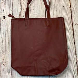 JOY MANGANO Clothes It All Leather Tote